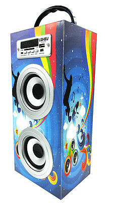 ALTAVOZ PORTATIL TORRE CAJA MANDO MP3 BLUETOOTH USB SD RADIO LINE IN