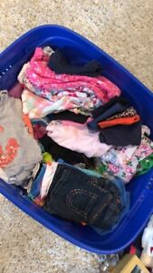 BIN FULL OF BABY GIRLS CLOTHES