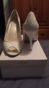 White wedding shoes Size 9.5