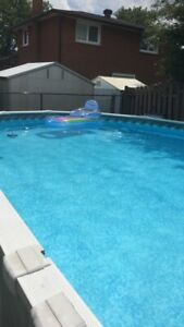 Above ground Pool.  Sold