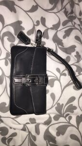 Authentic Brand new leather long Coach wristlet