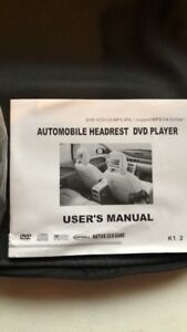 Two DVD players for vehicle headrests