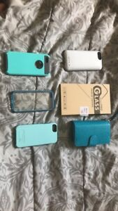 I'm selling 5 phone 5s cases and a screen protector