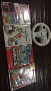 WII (good condition, 10 games)