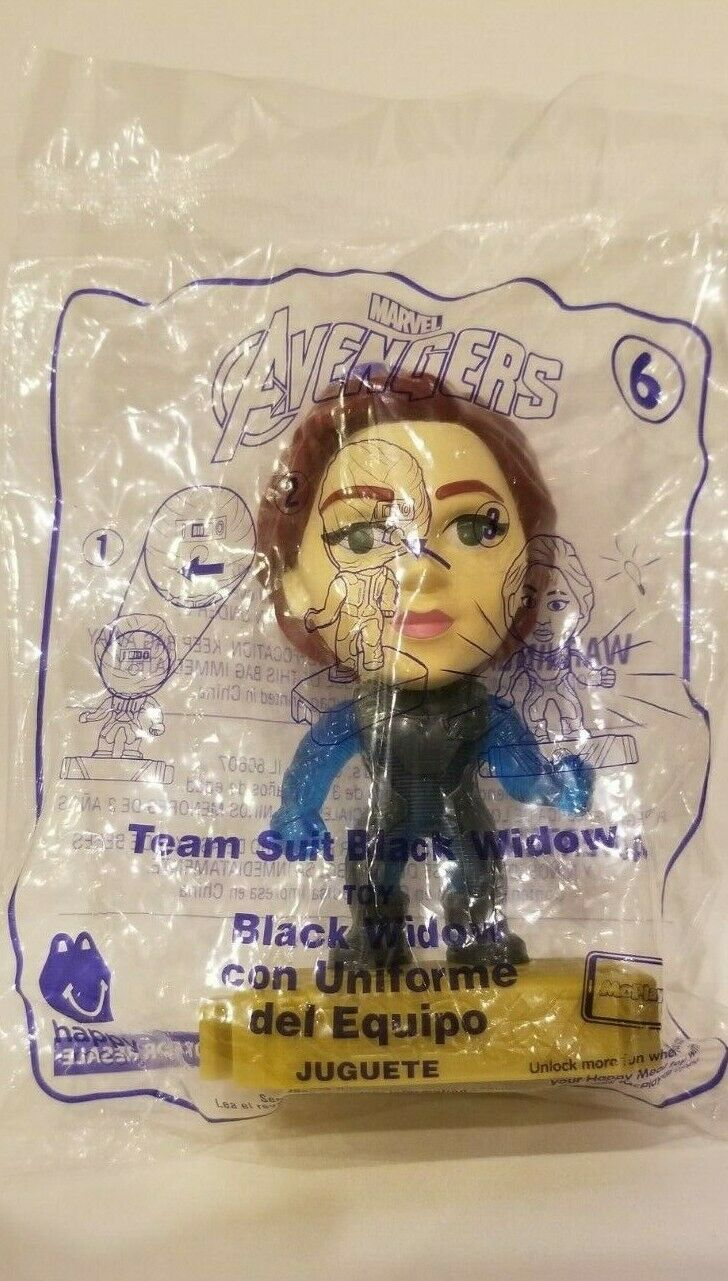 Avengers (2019) McDonalds Happy Meal Toys- Fast Shipping! #6 Team Suit Black Widow
