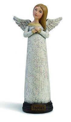 Baptism Angel Figurine - Demdaco 2020160516 Seasons Baptism Prayer Keepsake Angel Figurine Gift Decor