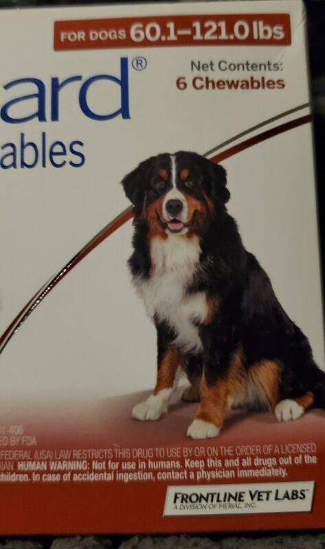 NIB Frontline Flea and Tick Chews for Large Dogs 60-121 lbs, 6 Chews
