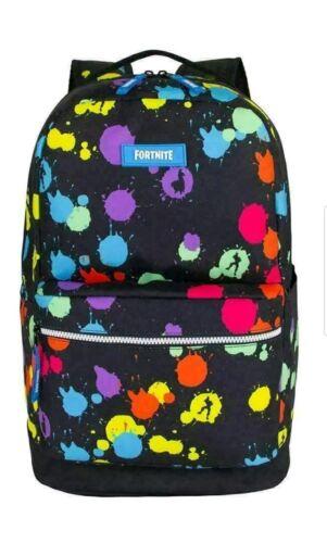 FORTNITE Kids Multiplier Backpack~PAINT SPLATTER~Laptop Bag~