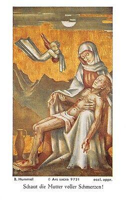 """Fleißbildchen Heiligenbild Gebetbild """" Hummel """" Holy card Ars sacra"""" H639"""""""