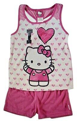 Hello Kitty Sanrio Hearts Girls 2 Piece Short Sleeve Pajama Set](Hello Kitty Girls Pajamas)