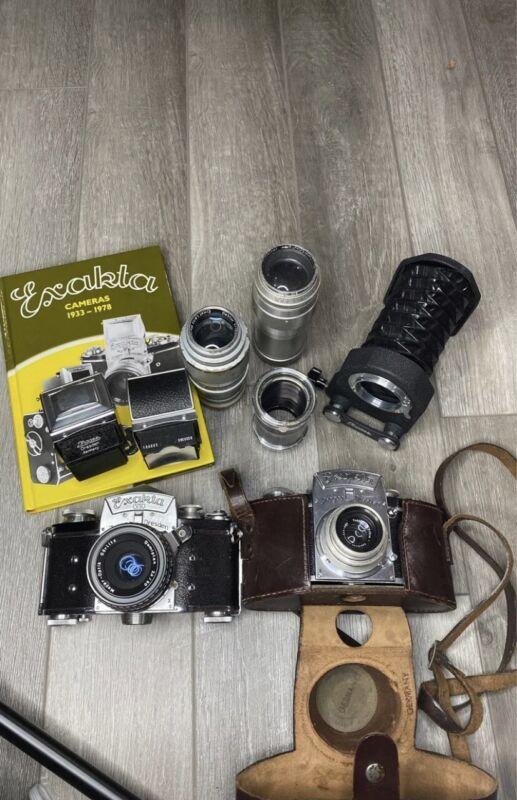 Vintage 35mm Exakta camera bodies, Lenses And Accessories lot
