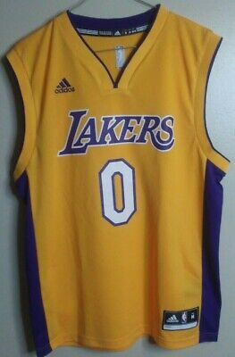 Men's ADIDAS Nick Young Swaggy P LA Lakers NBA Jersey, Size: Medium (M) - Gold