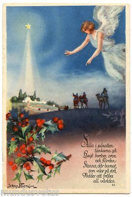 Jenny Nyström. Mini Card Postale. Angel. Angel. Small Postcard. 7.2 X 10.5 CM