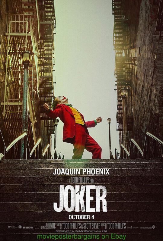 JOKER MOVIE POSTER AUTHENTIC DS 27x40 Final Version BATMAN