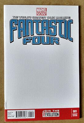 FANTASTIC 4 #1 - 1ST PRINT - BLANK VARIANT MARVEL COMICS (2013)