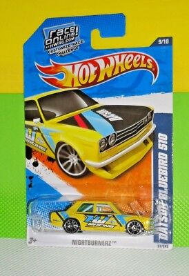 2011 HOT WHEELS NIGHTBURNERZ #097- Datsun Bluebird 510 - Yellow segunda mano  Embacar hacia Mexico