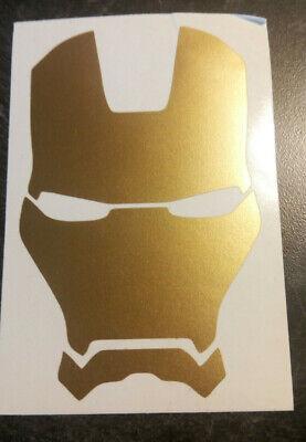 Iron Man Decal (Gold Vinyl Decal IronMan, Iron)