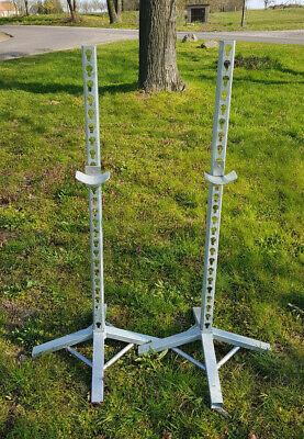 Hindernisständer inkl. 4 Auflagen Hindernis Sprung verzinkt Ständer zweiteilig