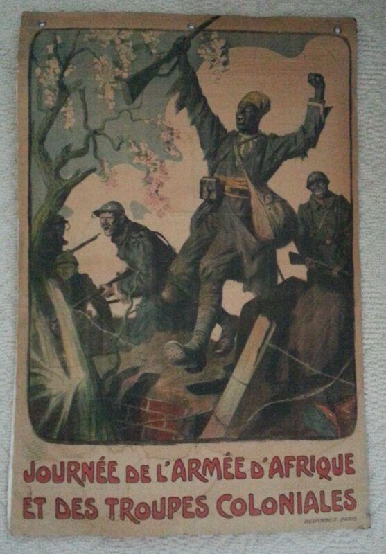 Journée De L'Armée D'Afrique Et Des Troupes Coloniales WW 1 Original Poster