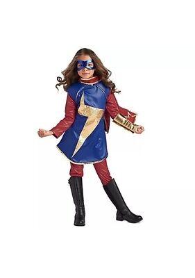 Ms Marvel Costume Disney Store Child Kid Costume Girl Halloween Coplay Size11/12 (Halloween Costumes For Girls 11-12)
