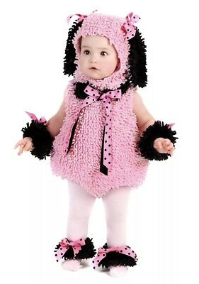 Puppy Baby Costume Pink Pinkie Poodle Dog Infant Toddler Halloween Fancy 18M/2T - Poodle Costume Toddler