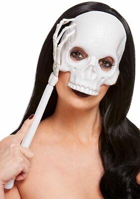 Hand Opera Stil Halloween Maske PVC Weiß Totenkopf Kostüm Zubehör