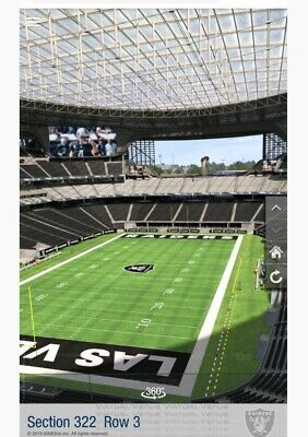 LAS VEGAS RAIDERS VS MIAMI DOLPHINS  2 TIX ROW 1 SEC 322 ISLE SEATS !