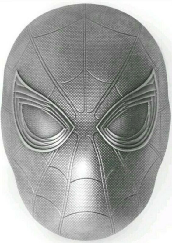 2019 2 Oz Silver $5 Fiji SPIDERMAN MASK Marvel Icons Antique Coin.