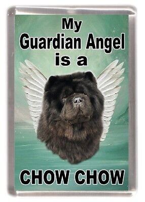 "Chow Chow Dog Fridge Magnet ""My Guardian Angel is a CHOW CHOW"" by Starprint"