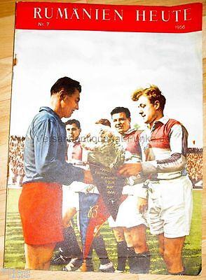 Rumänien heute Zeitschrift Heft 7 1956 Romania Kim Ir Sen Nordkorea Rugby Film