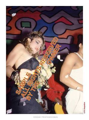 MADONNA  NIGHT CLUB PRIVATE PARTY 1980`s SHOW ONE 5X7 COLORFUL. ORIG SET