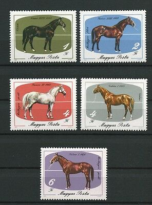 HORSES SET OF 5 MNH STAMPS 1985 HUNGARY 2932-6