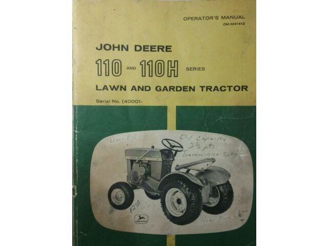 John Deere 110 Garden Tractor, Mower & Snowblo