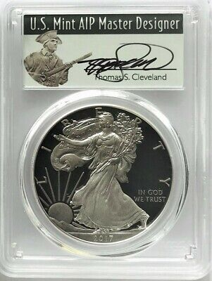 2017 W PROOF SILVER EAGLE FIRST DAY OF ISSUE MINUTEMAN PCGS PR70 T CLEVELAND