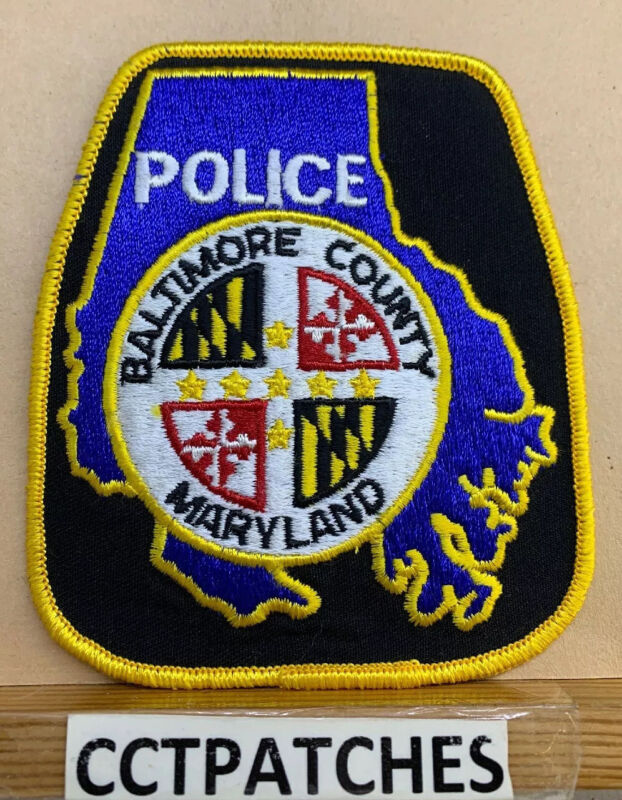 BALTIMORE COUNTY, MARYLAND POLICE BLACK SHOULDER PATCH MD