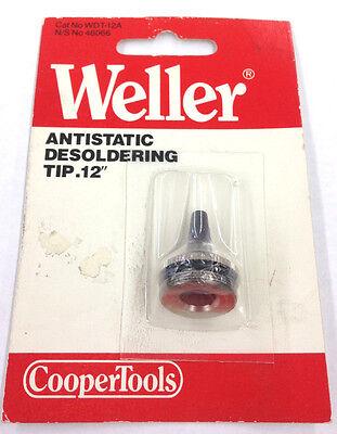 New Weller Wdt-12a Antistatic Desoldering Tip .12