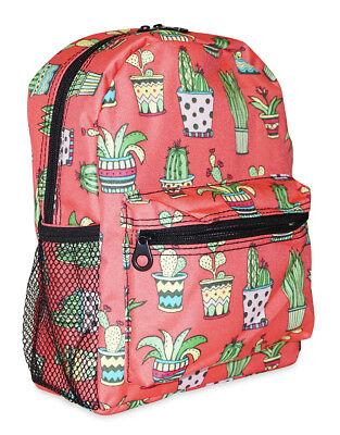 Southwestern Cactus Print Mini Backpack Purse Bag For Women Teenagers Juniors