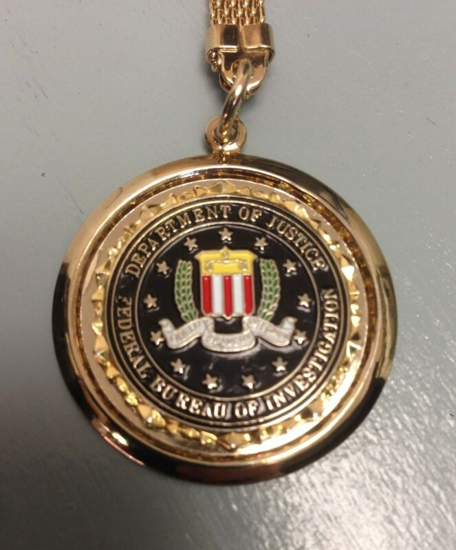 "DOJ FBI Federal Bureau of Investigation Matte Silver Business Card Case 3.75/"""