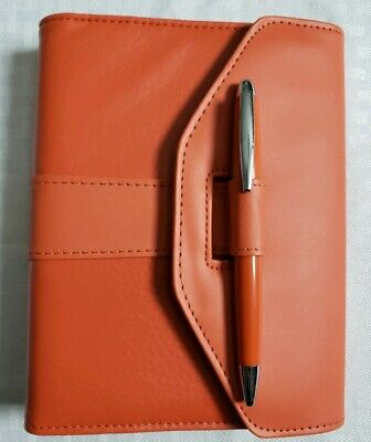 Orange Mini 6 Ring Binder Agenda Planner Organizer Wallet Address Book