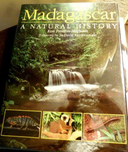 MADAGASCAR: A NATURAL HISTORY By Ken Preston-mafham - Hardcover DJ SLIP COVER