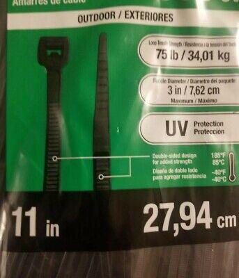 100 Pcs 11 Inch Cable Ties Heavy Duty 75 Lbs Nylon Plastic Wrap Zip Ties