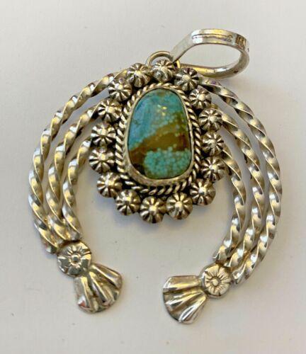 Robert Yellowhorse  -  Navajo    Naja - Sterling Silver / No 8 Mine Turquoise