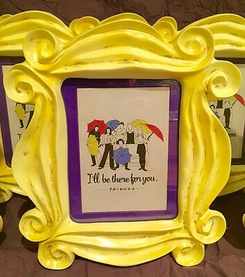 FRIENDS tv YELLOW PICTURE FRAME Monica's purple door prop repro  FREE SHIPPING