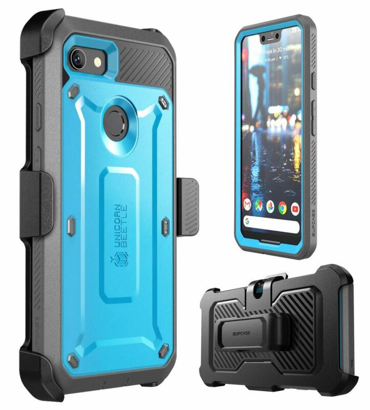 For Google Pixel 2XL/3/3XL Case, SUPCASE Unicorn Beetle Pro Holster Cover+Screen