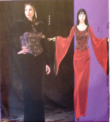 Morticia Dress Pattern (SEWING PATTERN McCalls 4549 ELVIRA MORTICIA GOTH VAMPIRE Dress Capelet 12-16)