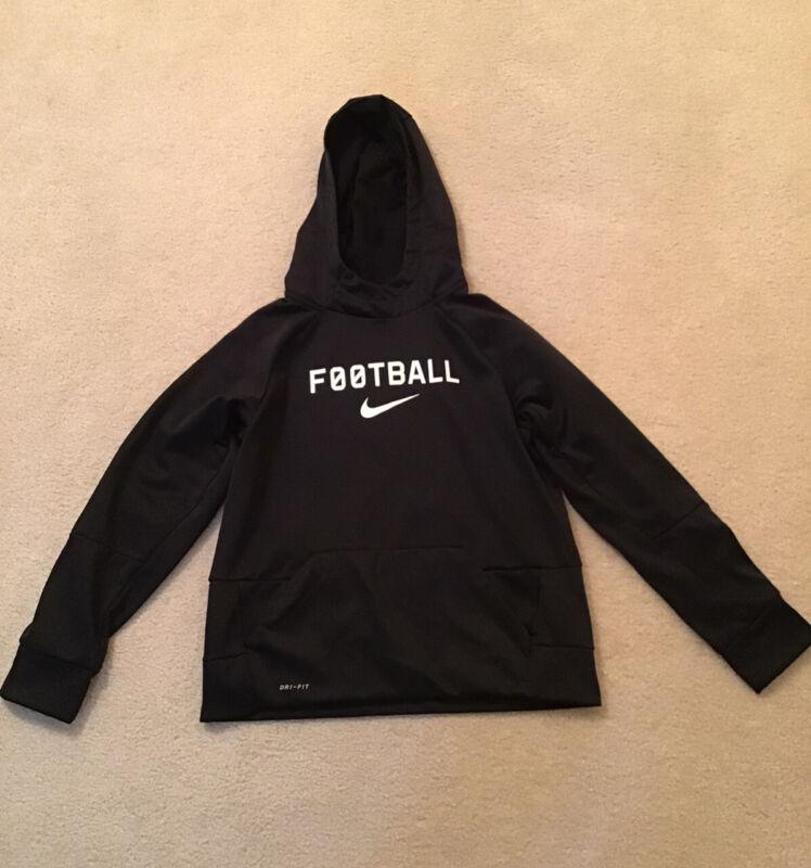 Youth Nike Hoodie Sweatshirt Large Football Black EUC