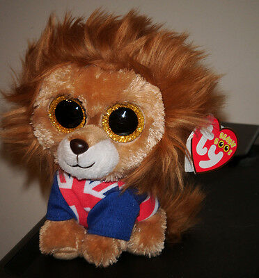 "Ty Beanie Boos ~ HERO the 6"" Lion (Sparkle / Glitter Eyes) ~ MWMT"