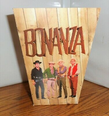 Bonanza Popcorn Box 3. Ponderosa. Landon Roberts Blocker Greene. Free Ship