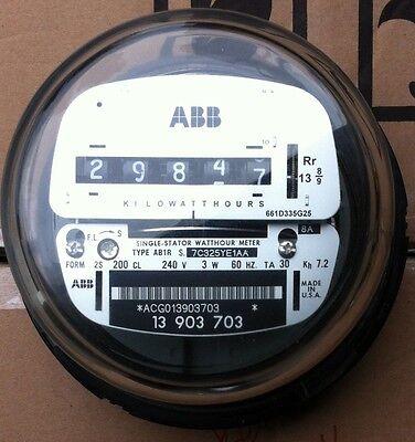 Abb Watthour Meter Kwh Ab1 Ez Read Cyclone 4 Lugs 240v 200a Fm 2s 3w