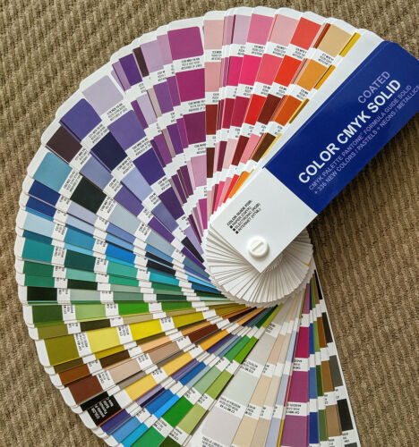 SOLID Coated & Uncoated CMYK Color Formula Guides for Pantone Hex RGB and CMYK